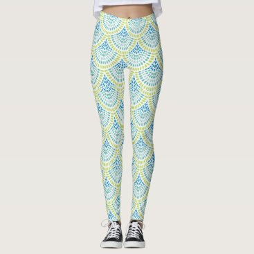 Beach Themed Beachy Mermaid Leggings