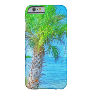 Beachy Palm Tree and Oceans Barely There iPhone 6 Case