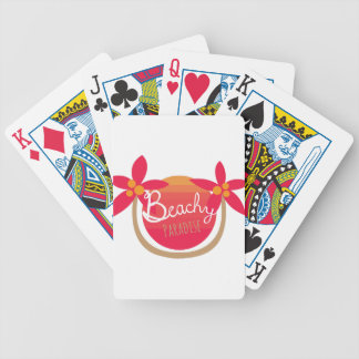 Beachy Paradise Bicycle Playing Cards