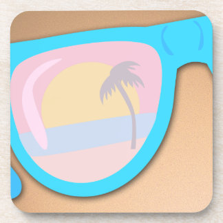 Beachy Shades Custom Style Drink Coaster