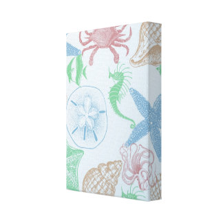 Beachy Stretched Canvas Prints