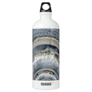 beachy swirl aluminum water bottle