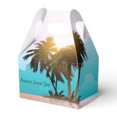 Beachy Themed Favor Box