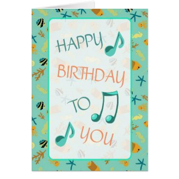 Beach Themed Beachy Themed Happy Birthday Card