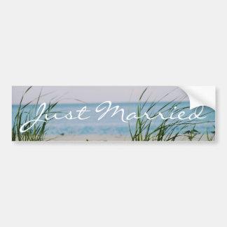 Beachy Wedding - Bumper Sticker Car Bumper Sticker