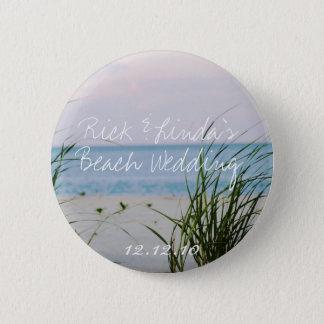 Beachy Wedding Button