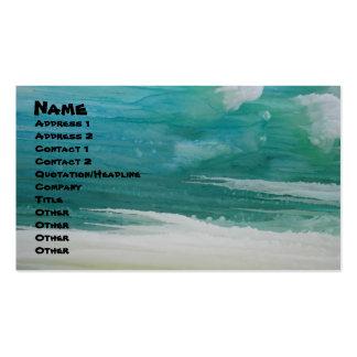 beachywatercolor, nombre, dirección 1, dirección 2 tarjeta de visita