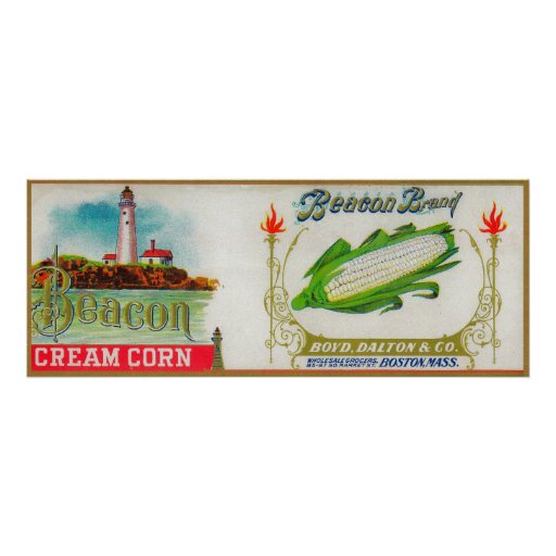 Beacon Corn Label Poster