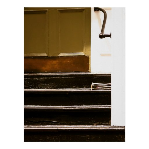 Beacon Hill Steps Poster