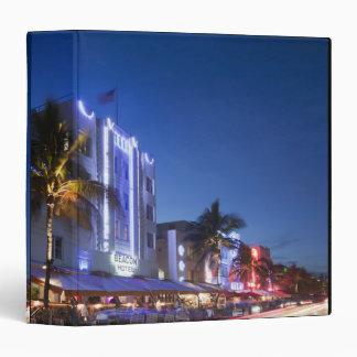 Beacon Hotel, Ocean Drive, South Miami Beach, Flor Vinyl Binders