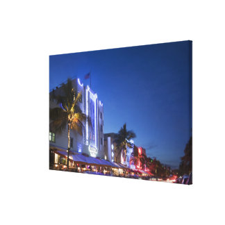 Beacon Hotel Ocean Drive South Miami Beach Flor Stretched Canvas Print