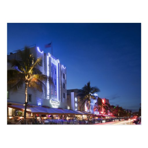 Beacon Hotel, Ocean Drive, South Miami Beach, Flor Post Card
