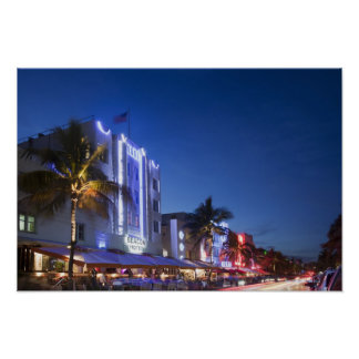 Beacon Hotel, Ocean Drive, South Miami Beach, Flor Poster