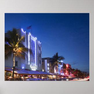 Beacon Hotel, Ocean Drive, South Miami Beach, Flor Poster