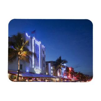 Beacon Hotel, Ocean Drive, South Miami Beach, Flor Rectangle Magnet