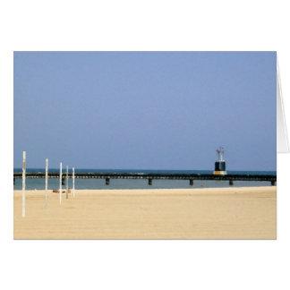Beacon Light of Lake Michigan Shores Card