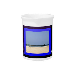 Beacon Light of Lake Michigan Shores Drink Pitcher