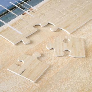 Beacon Light on Lake Michigan Shores Jigsaw Puzzle