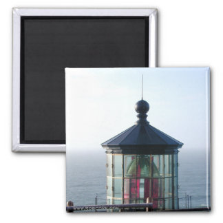 Beacon:  Lighthouse on the Oregon Coast 2 Inch Square Magnet
