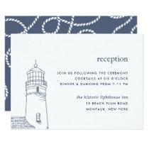 Beacon   Nautical Lighthouse Reception Card