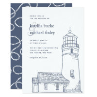 Beacon | Nautical Lighthouse Wedding Invitation
