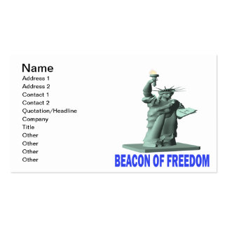 Beacon Of Freedom Double-Sided Standard Business Cards (Pack Of 100)