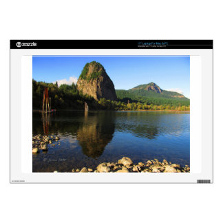 """Beacon Rock State Park, Columbia River Gorge. 17"""" Laptop Decals"""