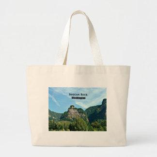 Beacon Rock, Washington Large Tote Bag