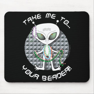 Bead Alien Mouse Pad