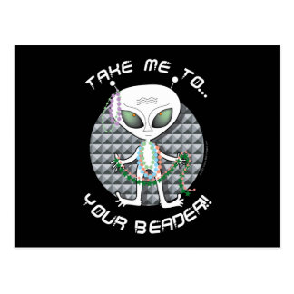 Bead Alien Postcard