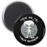 Bead Alien Refrigerator Magnet