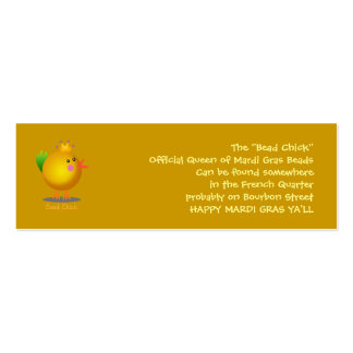 Bead Chick - Gold Double-Sided Mini Business Cards (Pack Of 20)