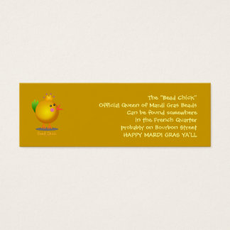 Bead Chick - Gold Mini Business Card