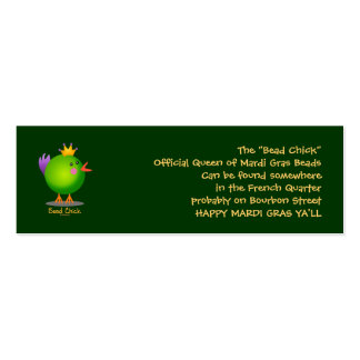 Bead Chick - Green Double-Sided Mini Business Cards (Pack Of 20)