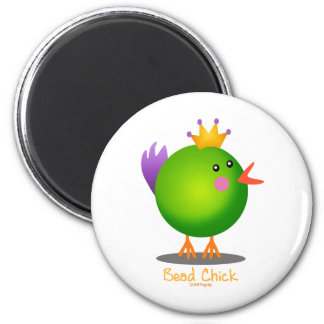 Bead Chick - Green Magnet
