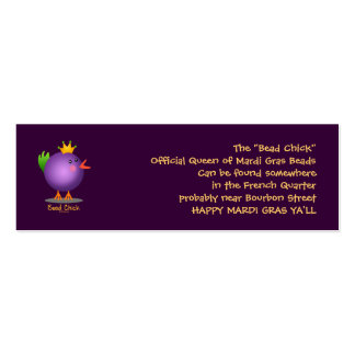 Bead Chick - Purple Double-Sided Mini Business Cards (Pack Of 20)
