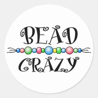 Bead Crazy Classic Round Sticker