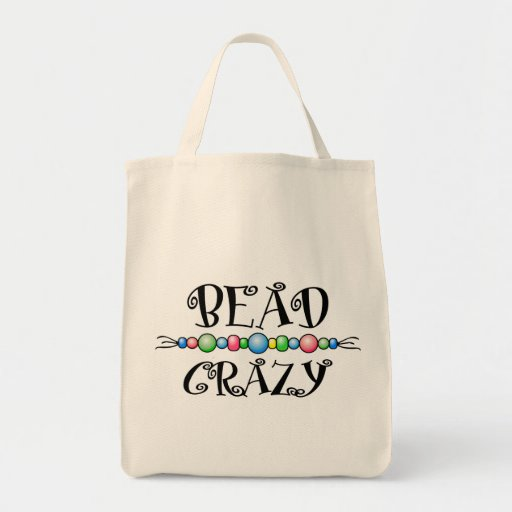 Bead Crazy Grocery Tote Bag