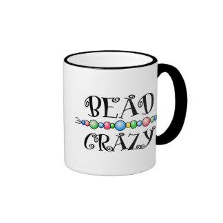 Bead Crazy Ringer Coffee Mug