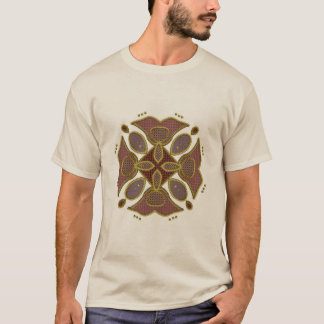 Bead Like Patchwork Motif T-Shirt