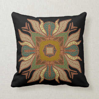 Bead Like Patchwork Motif Throw Pillow