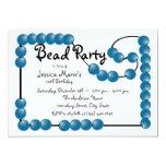 Bead Party Custom Invitations