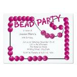 Bead Party Custom Invite