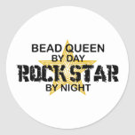 Bead Queen Rock Star by Night Classic Round Sticker