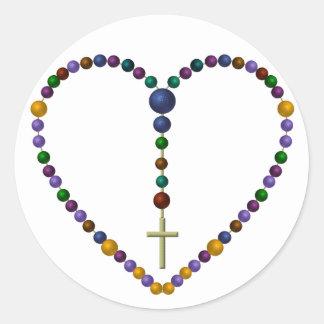 Bead Rosary #1 Classic Round Sticker