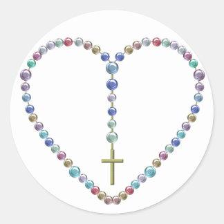 Bead Rosary #2 Classic Round Sticker