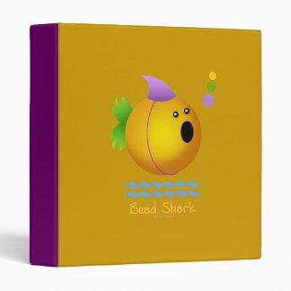 Bead Shark - Gold 3 Ring Binder