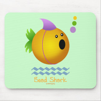 Bead Shark - Gold Mouse Pad
