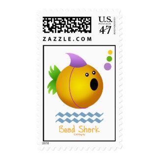 Bead Shark - Gold Postage