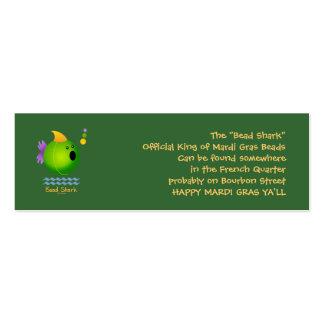 Bead Shark - Green Business Card